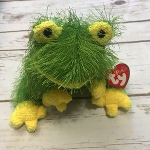 TY BEANIE PUNKIES HOPSCOTCH GREEN FROG RETIRED